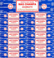 Authentic 2018 SATYA SAI BABA Nag Champa Incense Sticks 40 Grams Each Pack