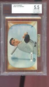 1955 Bowman #168 Yogi Berra New York Yankees BGS BVG 5.5 Graded Baseball Card