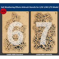 LIANG-0006/0007 Salt Weathering Effect Airbrush Stencil for 1/32 1/48 1/72 Model