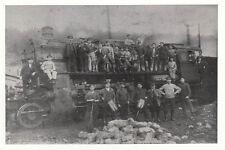 Foto / REPRO ca.13x18cm Gruppenbild FERROVIERE su locomotiva a vapore 5555