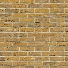 1:12 Scale A3 Dolls House Embossed Yellow Brick Wallpaper 48.5cm x 31cm 759c