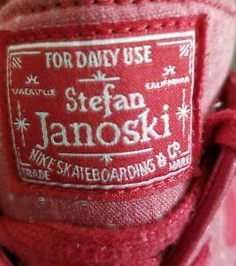 Nike Zoom SB Stefan Janoski Red Polka Dot Canvas Shoes Size US 10  (705190-661)