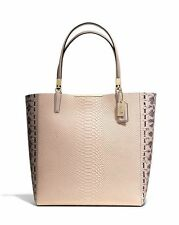 NWT COACH MADISON EMBOSSED PYTHON MINI BONDED TOTE F28173