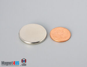 "10pcs 1"" dia x 1/8""thick  N40 Super Strong Rare Earth Neodymium Magnets Disc"