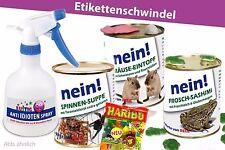 4erSet-Konserve Überraschung Geburtstag Dosen Idioten-Spray Maus Frosch Spinne