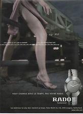 Publicité Advertising  ///    montre RADO