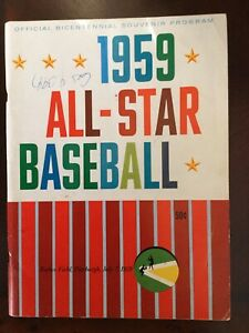 1959 MLB BASEBALL ALL STAR GAME PROGRAM GOOD CONDITION PITTSBURGH FORBES FIELD