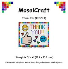 MosaiCraft Pixel Craft Mosaic Art Kit 'Thank You' Pixelhobby