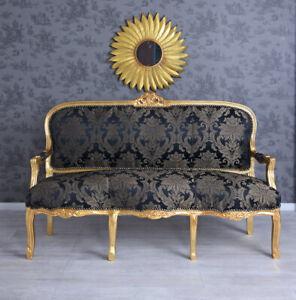 Antiksofa Rokoko Couch Barock Sofabank Sitzbank Gold Salonsofa Prunksofa Antik
