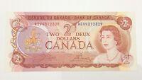 1974 Canada 2 Two Dollar AGV Prefix Canadian Circulated Banknote E970
