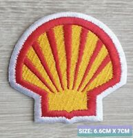 Shell Car Motor logo Badge Embroidered Iron On/Sew On Patch