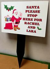 Personalised Santa Please Stop Here Signs Any Name(s)