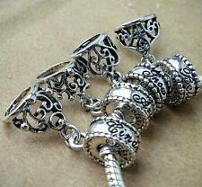 Disney Princess Cinderella Belle Ariel Snow White Tiara European Bead Charms Set