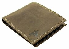 PRIMEHIDE MEN'S HIGH QUALITY DISTRESSED HUNTER LEATHER CREDIT CARD WALLET 8502