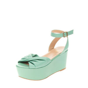 RRP€160 SHASA Leather Ankle Strap Sandals EU 36 UK 3 US 6 Platform Made in Italy