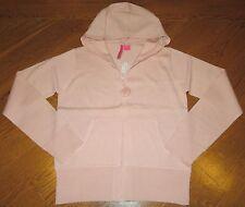 New CHARLOTTE TARANTOLA Pink/Sparkle l/s HOODED Zip-Up POM-POM SWEATER Women M