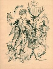 Publicité ancienne Merlin l'enchanteur 1950 issue de magazine