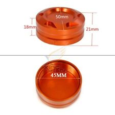 CNC Rear Brake Fluid Reservoir Cover Cap For KTM DUKE 125/200 Orange