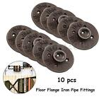 10Pcs 3/4'' BLACK MALLEABLE IRON FLOOR FLANGE fitting pipe npt Wall Mount