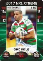 ✺Mint✺ 2017 SOUTH SYDNEY RABBITOHS NRL Card GREG INGLIS