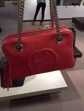 1e8003513a4 Gucci Soho Pink Leather Double Chain Medium Shoulder Bag 100% Authentic