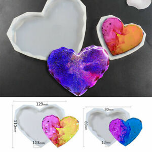 Resin Casting Heart Coaster Epoxy Mold Silicone Jewelry Making DIY Craft Mould