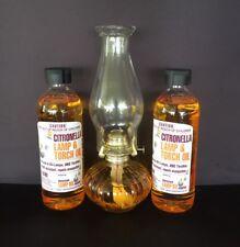 32cm Oil Lamp plus 2 bottles Lamp Oil - Package Deal