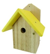 Nature Products USA Chickadee Birdhouse Yellow Recycled Poly Lumber Roof WREN-4Y