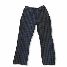CROFT & BARROW Grey Plaid PJ Pants L