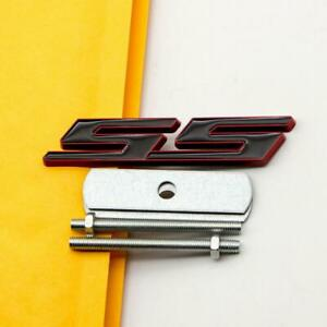 Grill Emblem Car SUV Sports Grille Badge for Camaro Metal Red & Black Front SS