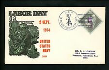US Naval Ship Cover USS La Moure County LST-1194 Vietnam War 1974 Labor Day