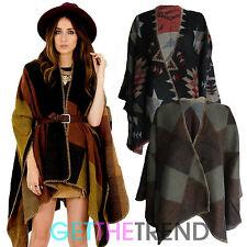 Womens Blanket Cape Ladies Winter Large Size Pattern Wrap Shawl Blanket Scarf