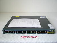 CISCO WS-C2960S-48LPS-L 48 GigE PoE 370W 4 x SFP-Slot LAN Base