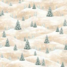 Fat Quarter Woodland Friends Trees Christmas 100% Cotton Quilting Fabric
