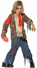 Boys Zombie Suit Undead Halloween Horror Fancy Dress Costume Childs Outfit