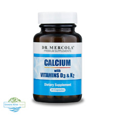 Calcium with Vitamins D3 & K2, 30 Caps - Dr Mercola