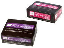 PROCARE 2 items Nail Foam Soaks + Foil Wraps 200 per pk Gel or Acrylic Nails