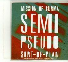 (DU325) Mission Of Burma, Semi-Pseudo-Sort-Of Plan - 2012 DJ CD