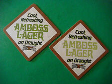 Vintage Beer Bar Coaster ~ Hydes' Anvil Amboss Lager on Draught ~ CLOSED BREWERY