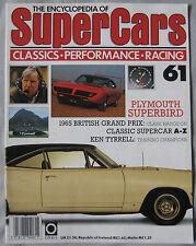 SUPERCARS magazine Issue 61 Featuring Plymouth Superbird cutaway, Ken Tyrrell