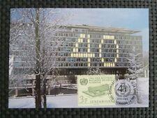 Lussemburgo MK ONU WHO MAXIMUM carta carte MAXIMUM CARD MC cm c1480