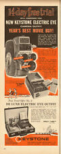 1960 vintage ad Keystone Electric Eye 8mm Home Movie Camera- 061213