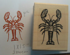 "P12 Lobster rubber stamp WM 2x1.5"" WM"