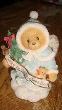 Cherished Teddy Glittery Grace Banner Figurine New In Box