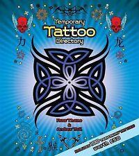 Temporary Tattoo Directory includes 100 Tattoo's - Hardback Book, New