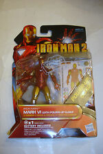 Hasbro 2010 Marvel Movie Iron Man 2 Mark VI Power Glow Armor Figure MIP Avengers