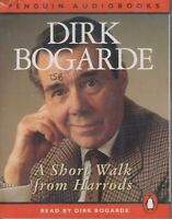 A Short Walk from Harrods Dirk Bogarde 2 Cassette Audio Book Autobiography Actor