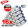 16* BTY AA Rechargeable Batteries 1.2V 3000mAh Ni-MH For Toys MP3