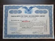 Tonopah North Star Tunnel and Developement Company   1902  Nevada Corporation