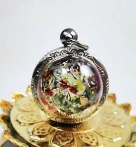 Ball Phaya LEKLAI Kaew Stone Kod Phee AMULET Charm Lucky wealth money Pendant